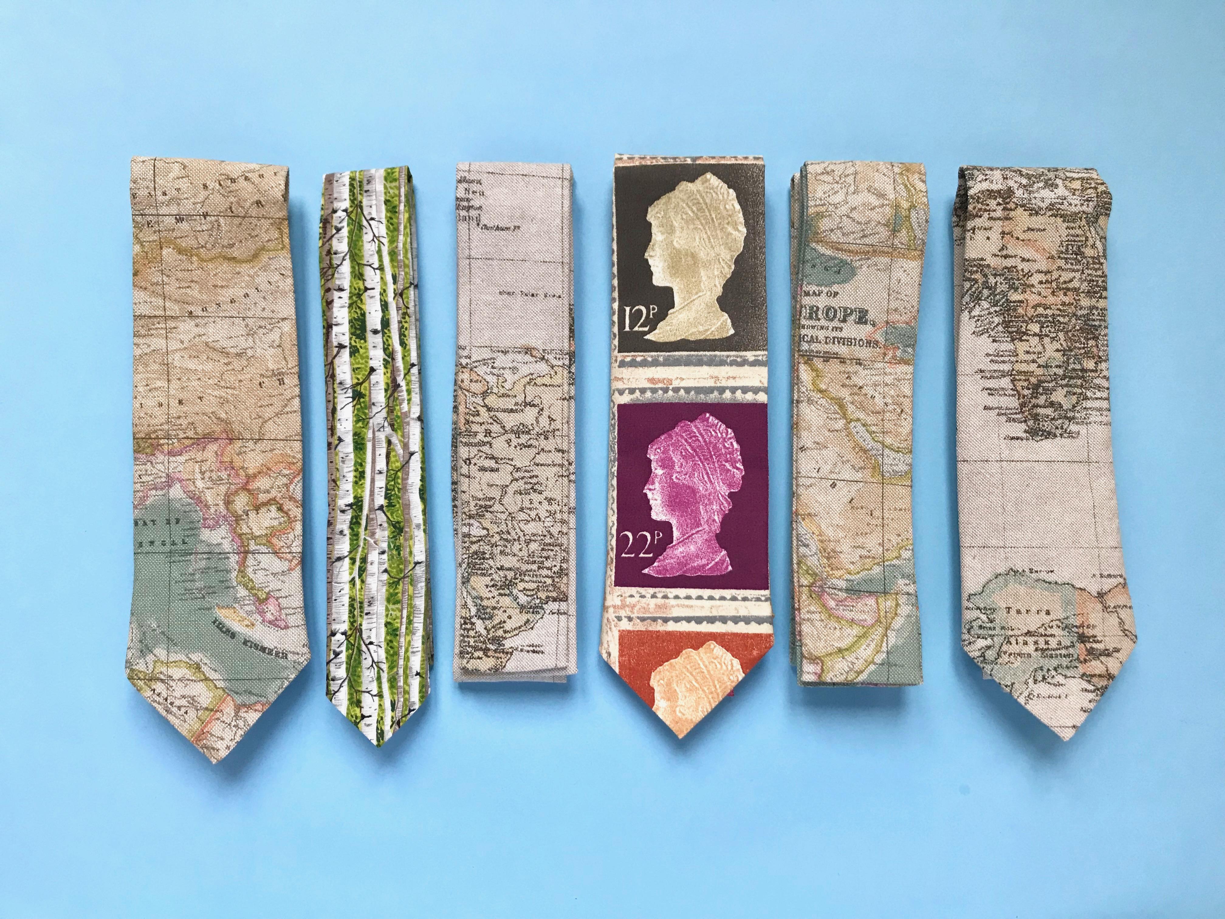 cravates timbres ou carte du monde